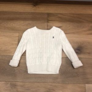 Polo Ralph Lauren Ivory Cable Knit Sweater